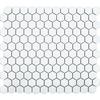 Bijou White Gloss Hexagon Mosaic Tiles