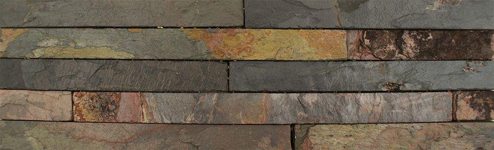 Ledgestone Rustic Multi-Colour Split Face Tiles