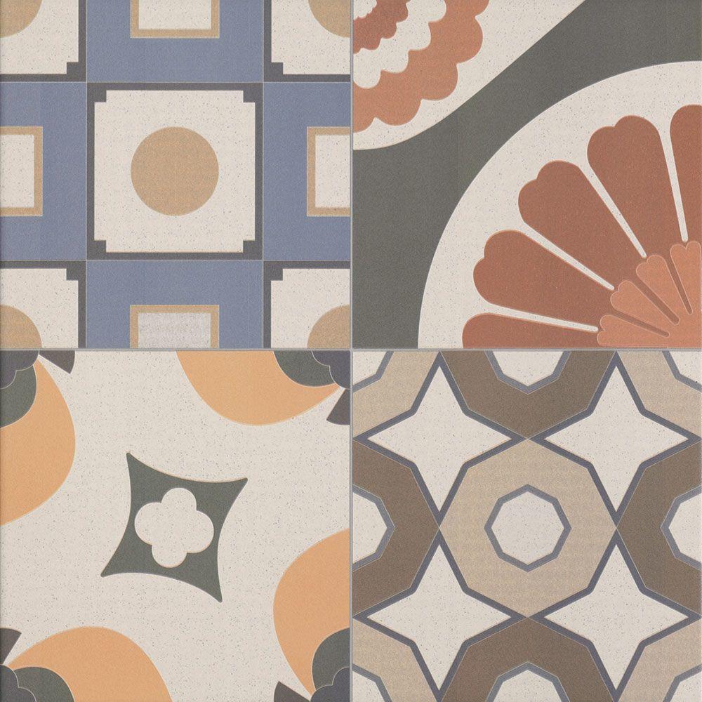 Patchwork effect tiles zellij tiles 442x442x10mm tiles for Victorian style kitchen floor tiles