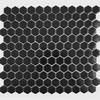 Black Hexagon Matt Tiles