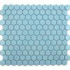 Gloss Sky Blue Hexagonal Tiles