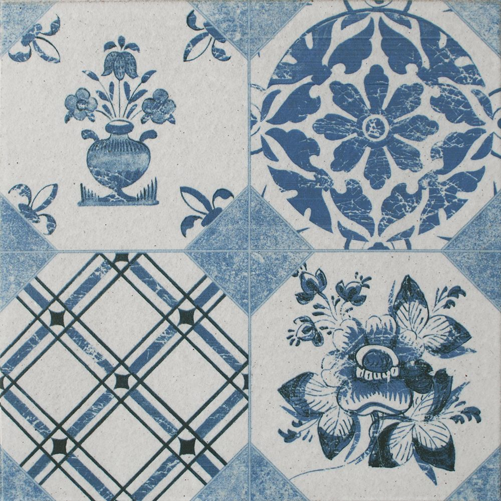 Blue Decor Vintage Pattern Tiles