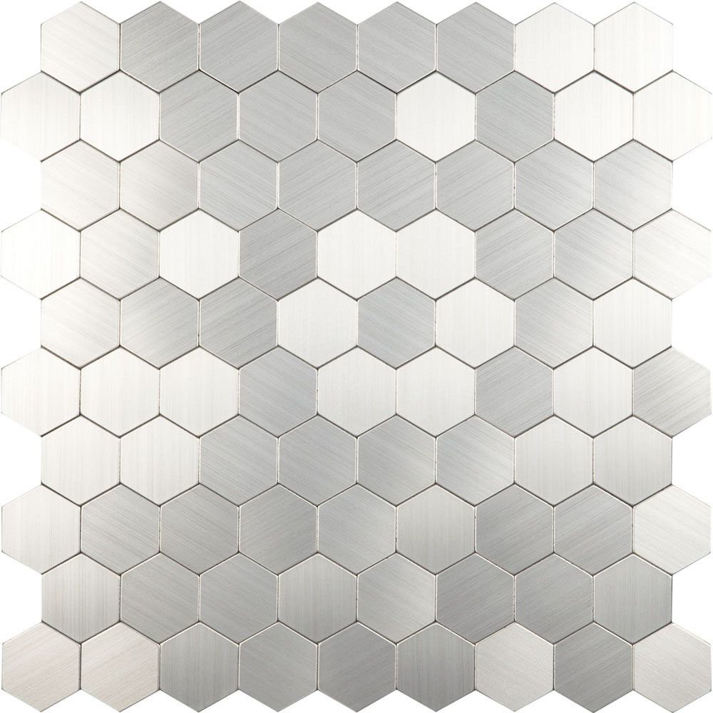 Steel Hexagon Mosaic Tiles