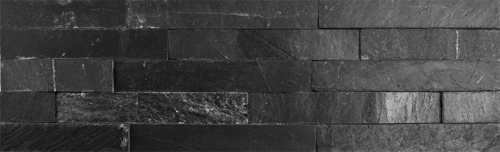Ledgestone Charcoal Black Split Face Tiles