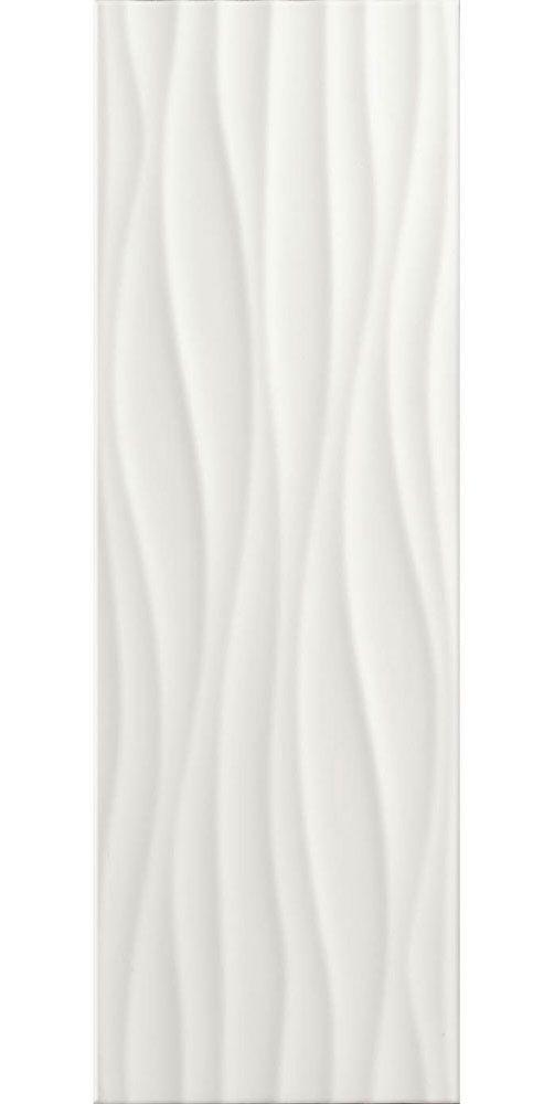 White Gloss Wave Tiles