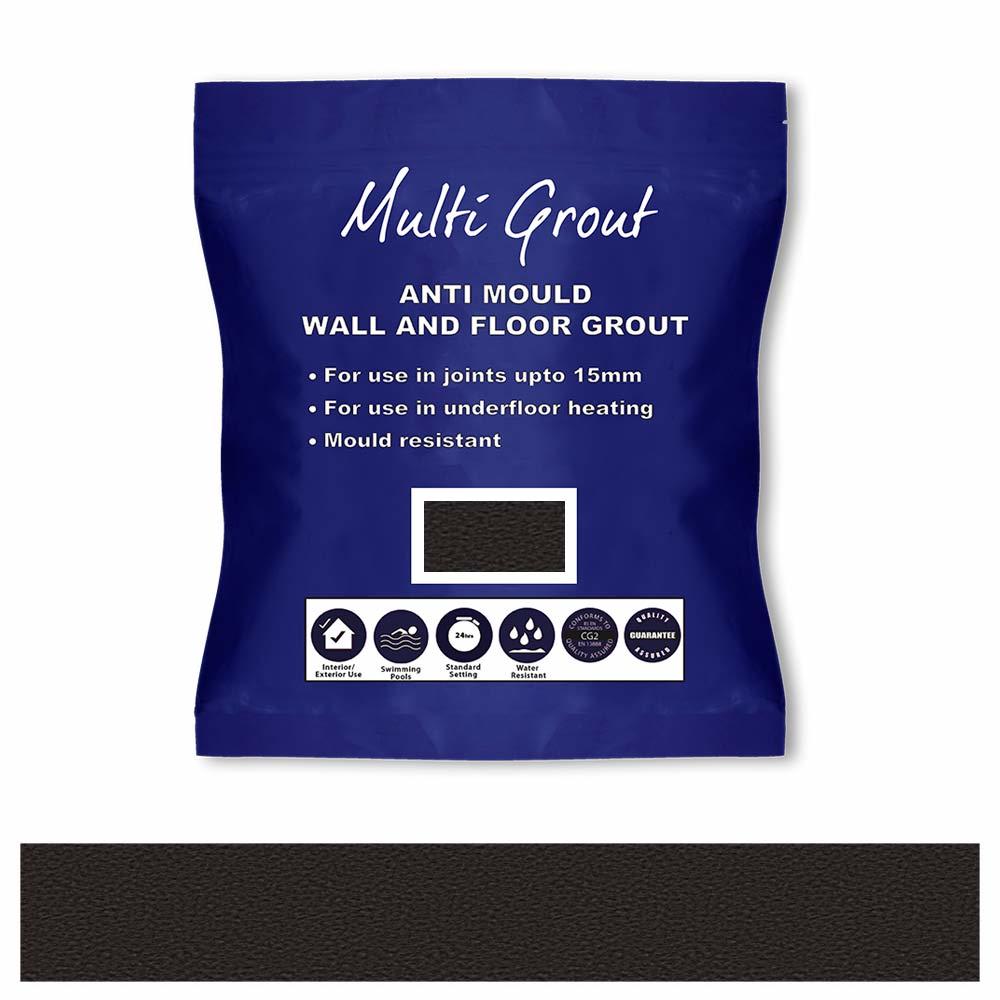 Charcoal Anti-Mould Tile Grout 3kg