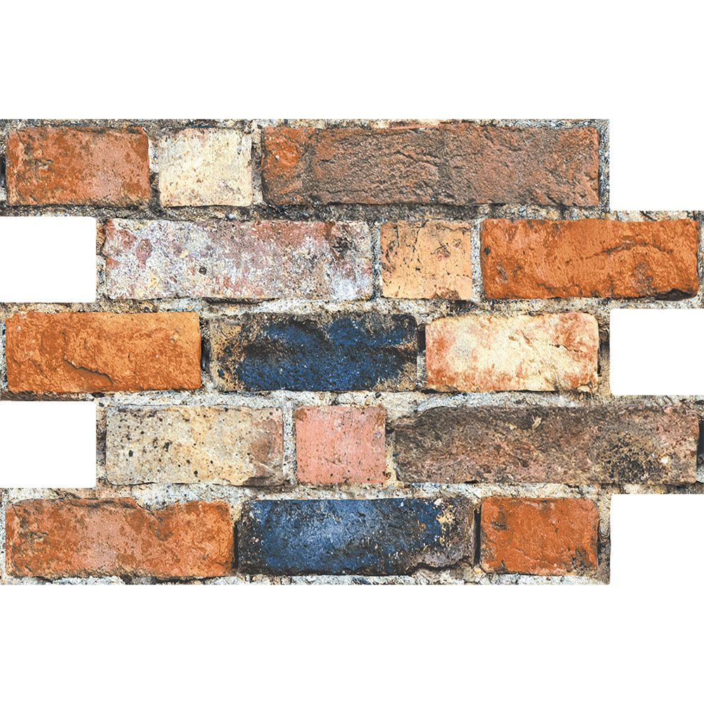 Rustic Mix Brick Slip Effect Tiles