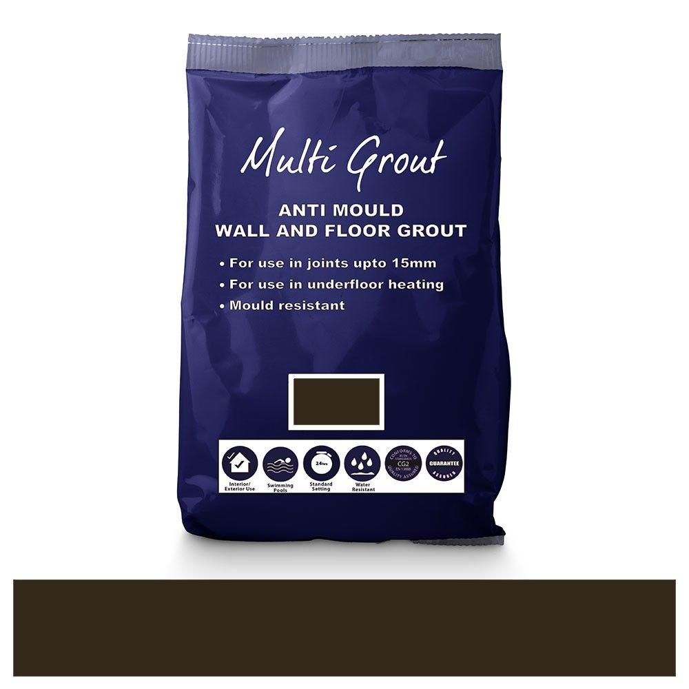 Brown Anti-Mould Tile Grout 10kg