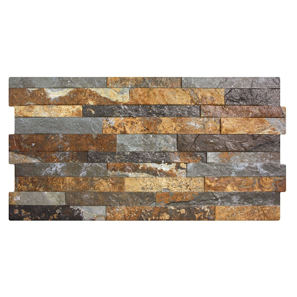 Dark Rustic Split Face Effect Tiles