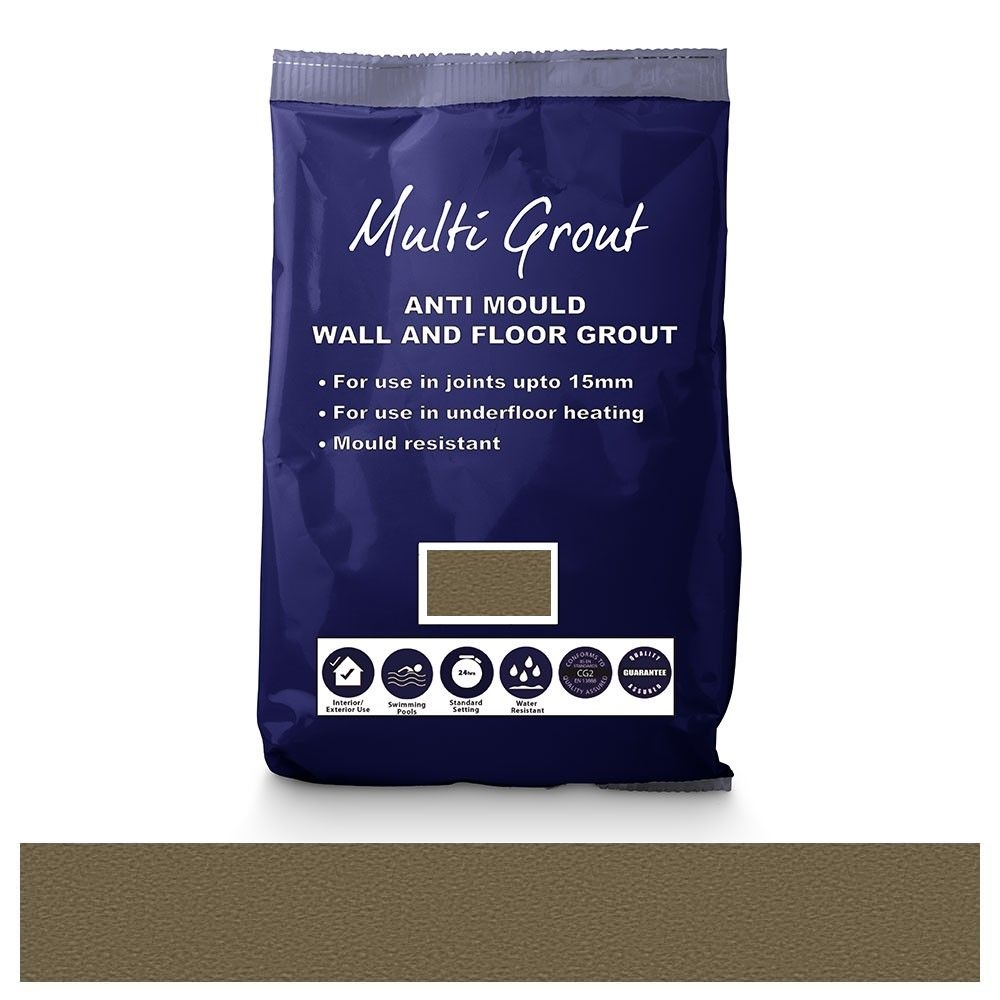 Stone Grey Anti-Mould Tile Grout 10kg