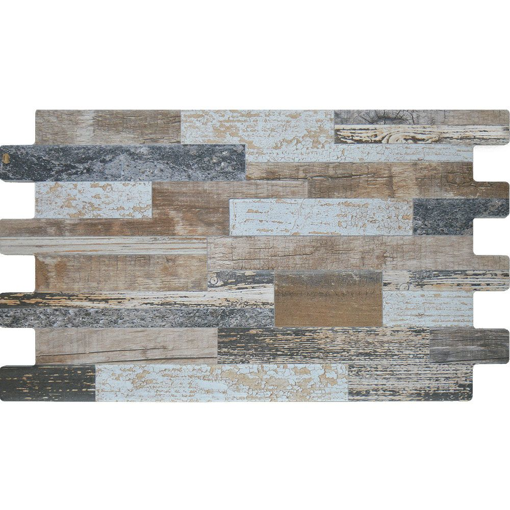 Inject Warmth Into Your Home With Reclaimed Wood Wall: Natural Mix Split Face Wood Tiles Reclaimed Wood Effect