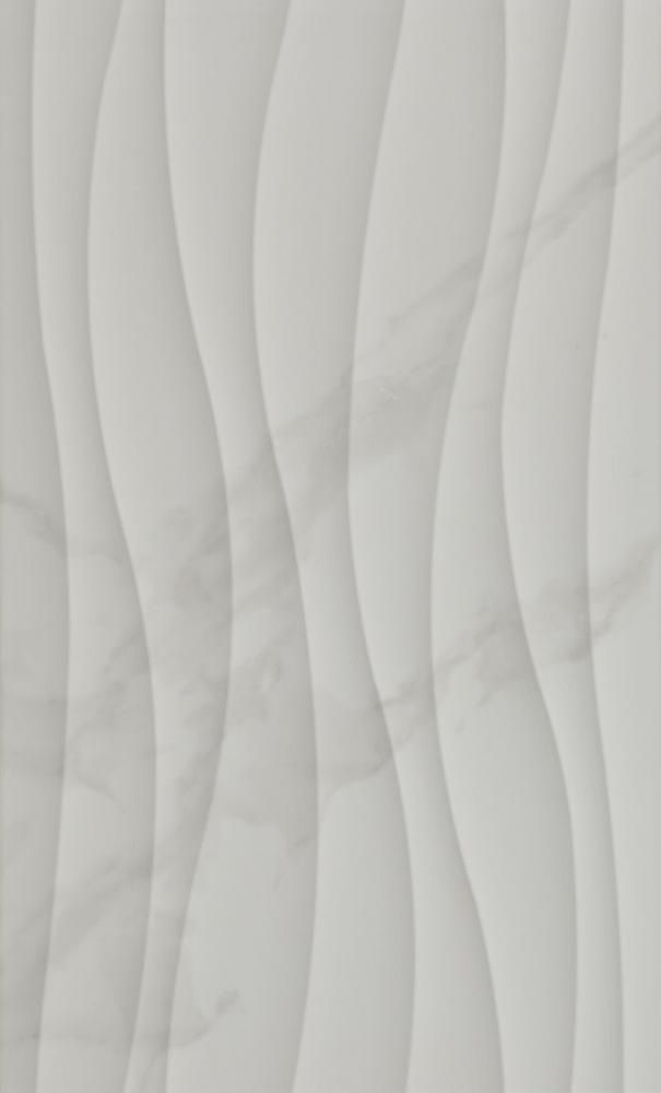 Anais Blanco Marble Effect Wave Wall Tiles