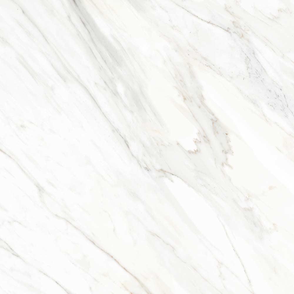 White Carrara Marble Effect Floor Tiles