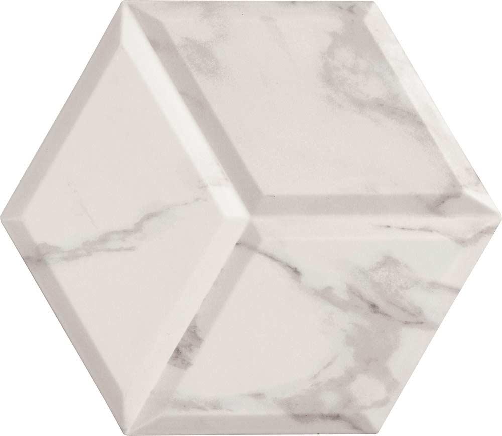 Anais White Hexagon Decor Tiles