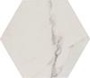 Anais White Marble Effect Hexagon Tiles