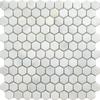Blanco Marble Hexagon Tiles
