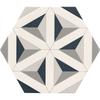 Contour Shadow Hexagon Tiles