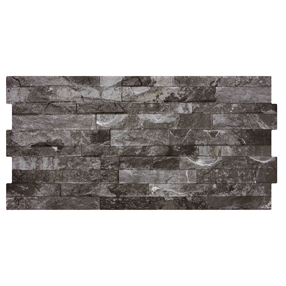 Charcoal Split Face Effect Tiles