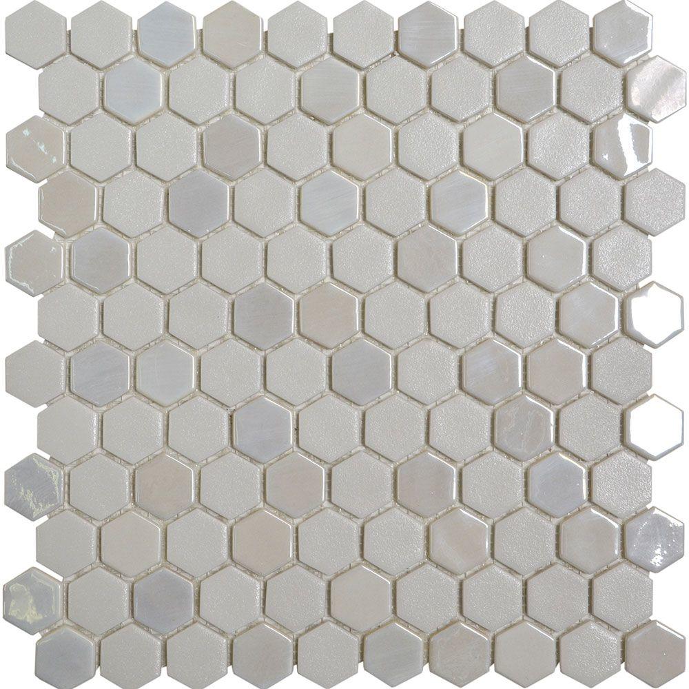 Aurora Mix Hexagon Mosaic Tiles