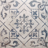 Harran Antique Vintage Blue Pattern Floor Tiles