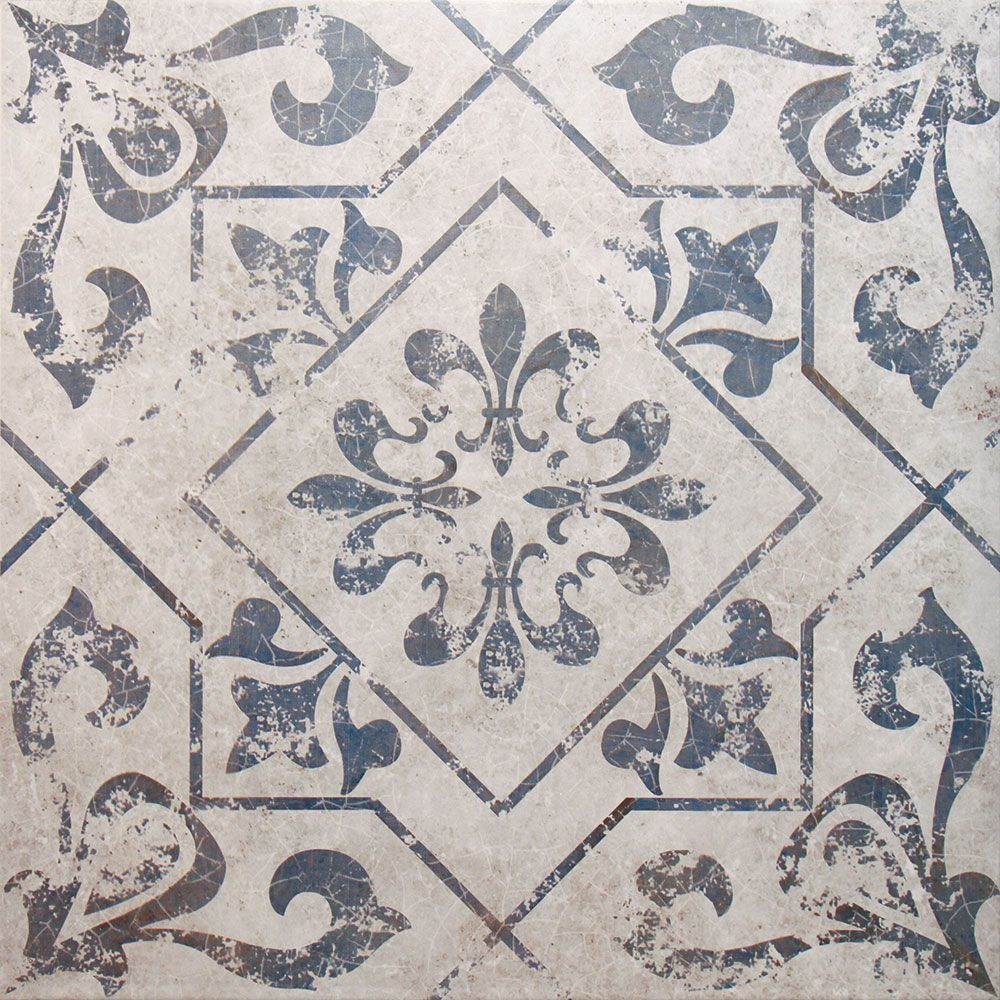 Antique Vintage Blue Floor Tiles