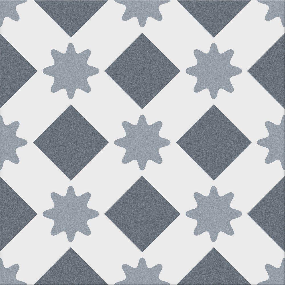 Brandeis Muted Blue Decor Tiles
