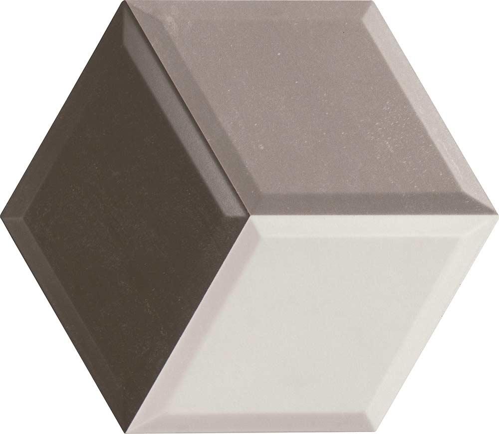 Hexa-Cube 3D Grey Tiles