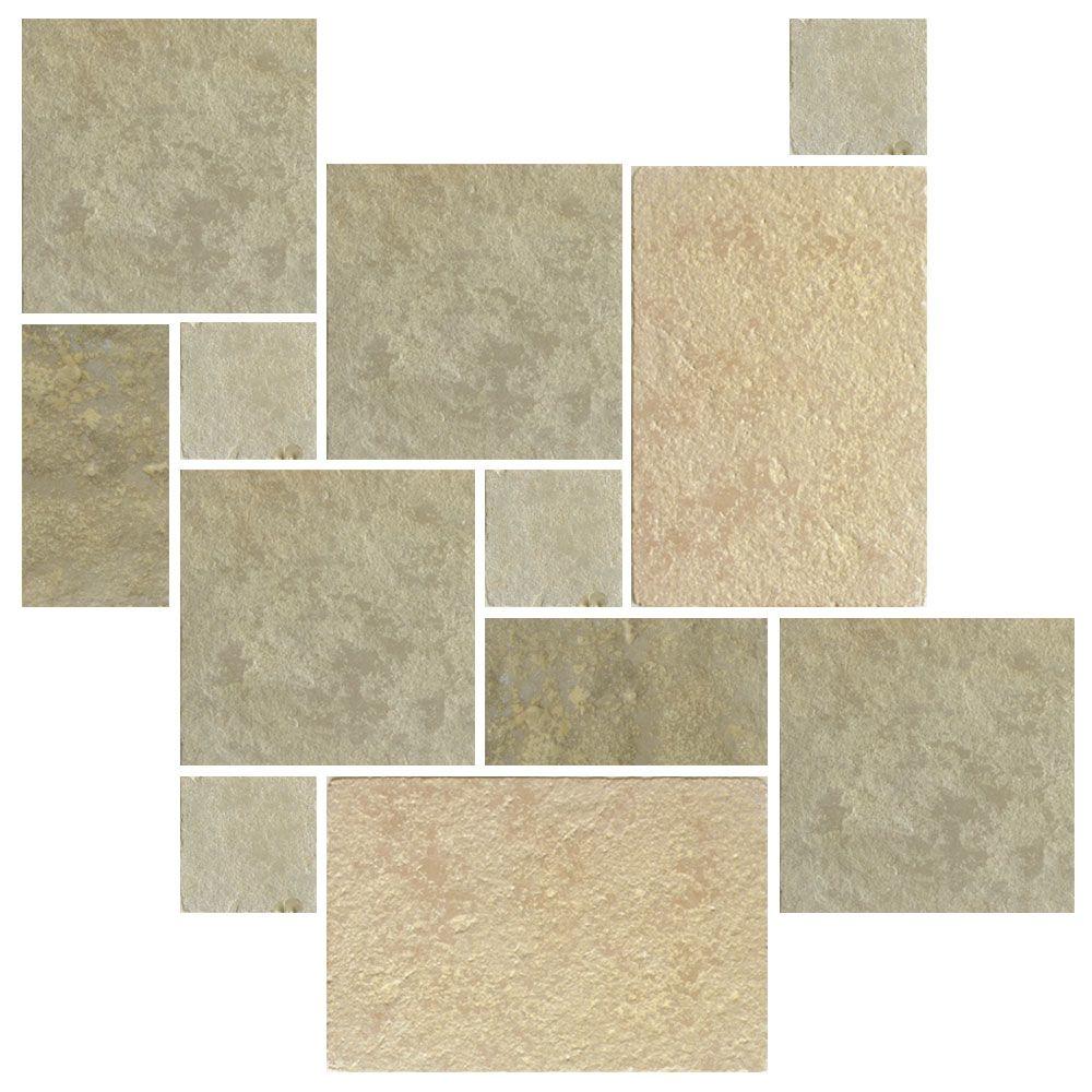 Seasoned Limestone Greek Pattern Tiles