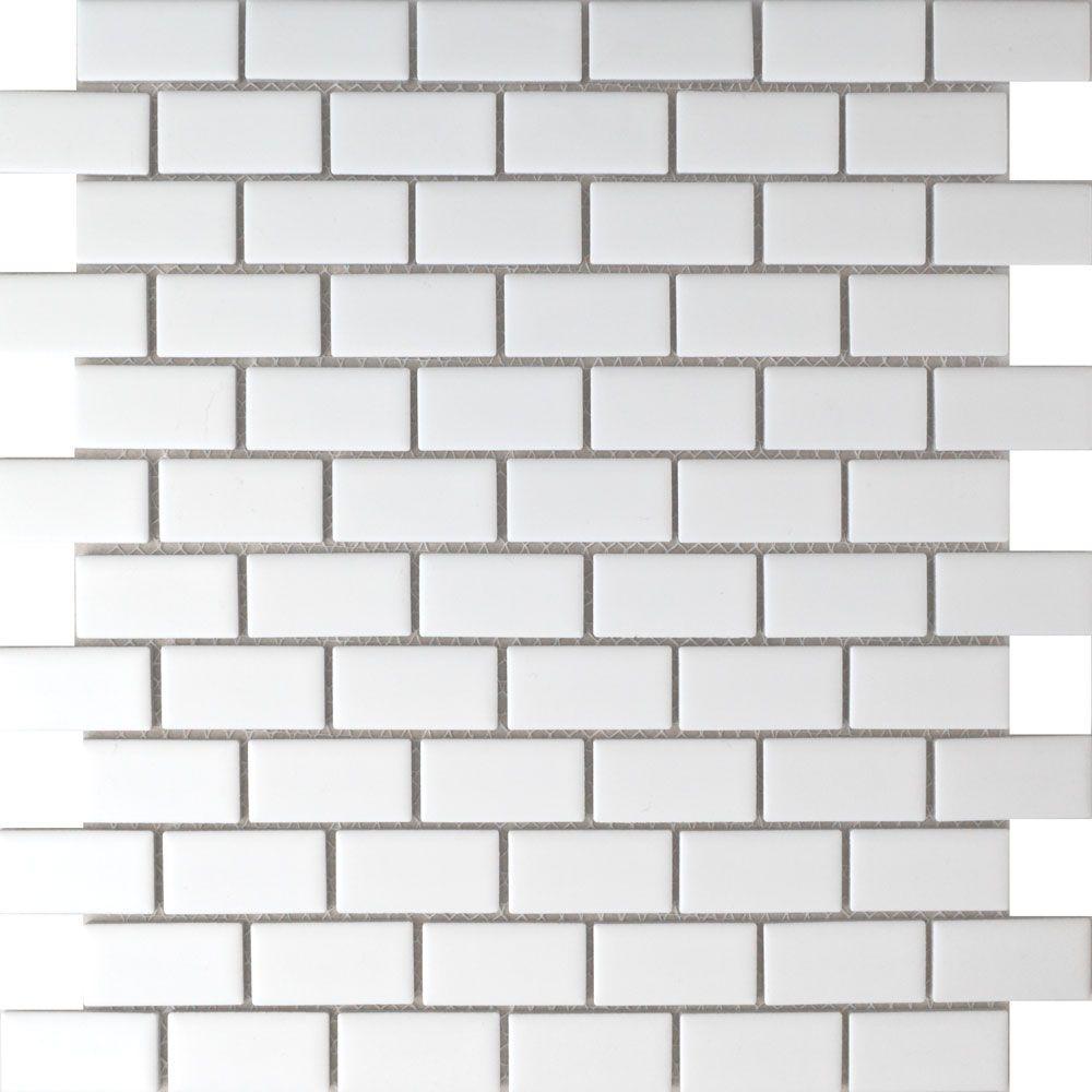 Matt White Brickbond Tiles