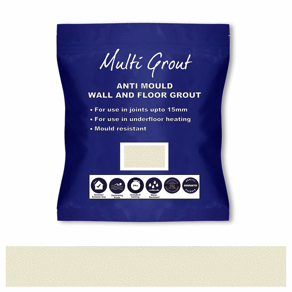 Ivory Anti-Mould Tile Grout 3kg