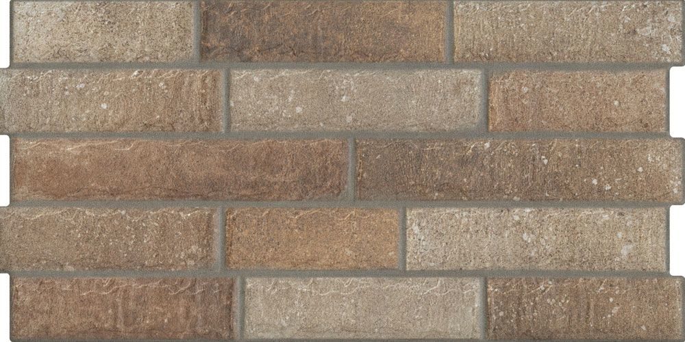 Dark Natural Brick Effect Tile