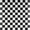 Black and White Chequer Gloss Mosaic Tiles