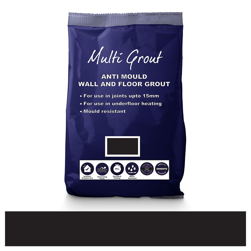 Charcoal Anti-Mould Tile Grout 10kg