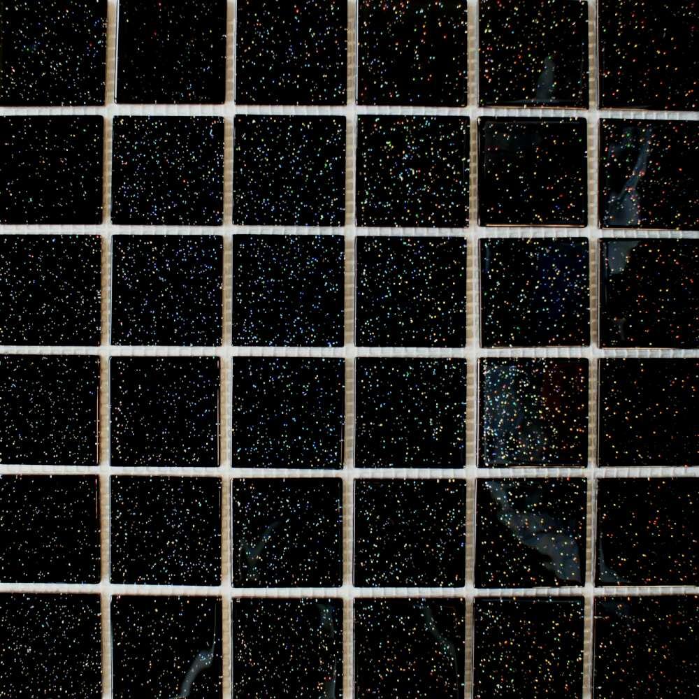 black sparkle mosaic tiles solar glass tiles 325x325x4mm til