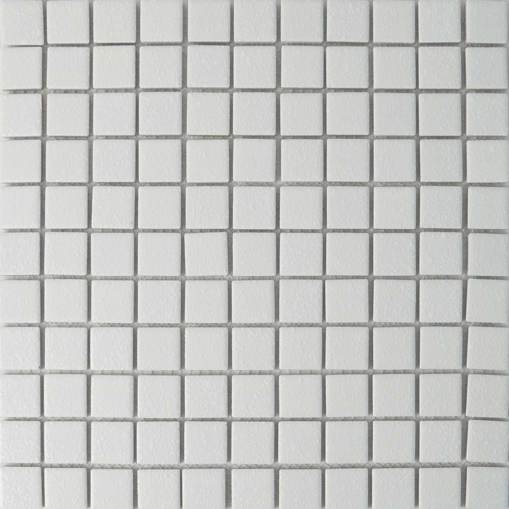 Kitchen Tile Texture White: White Textured Finish Mosaic Tiles Toto Anti-Slip Mosaic