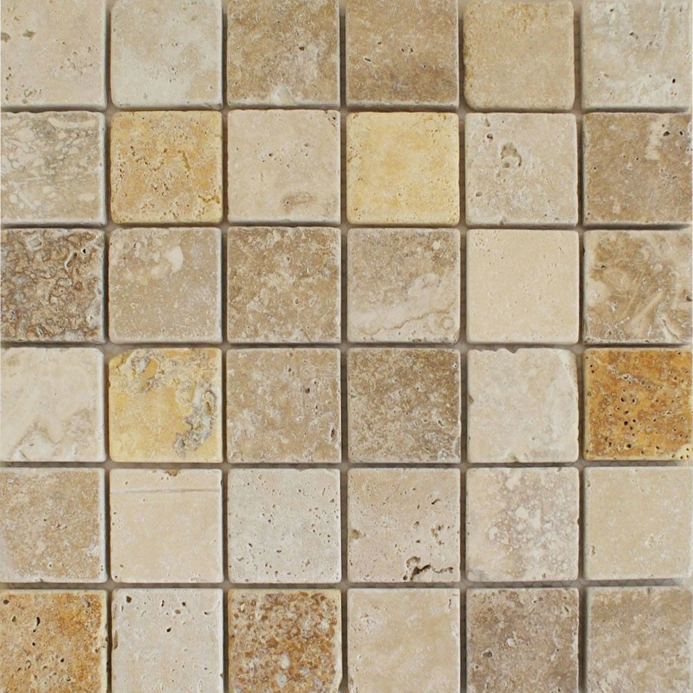 Noce/White/Yellow Mixed Tessare Tiles