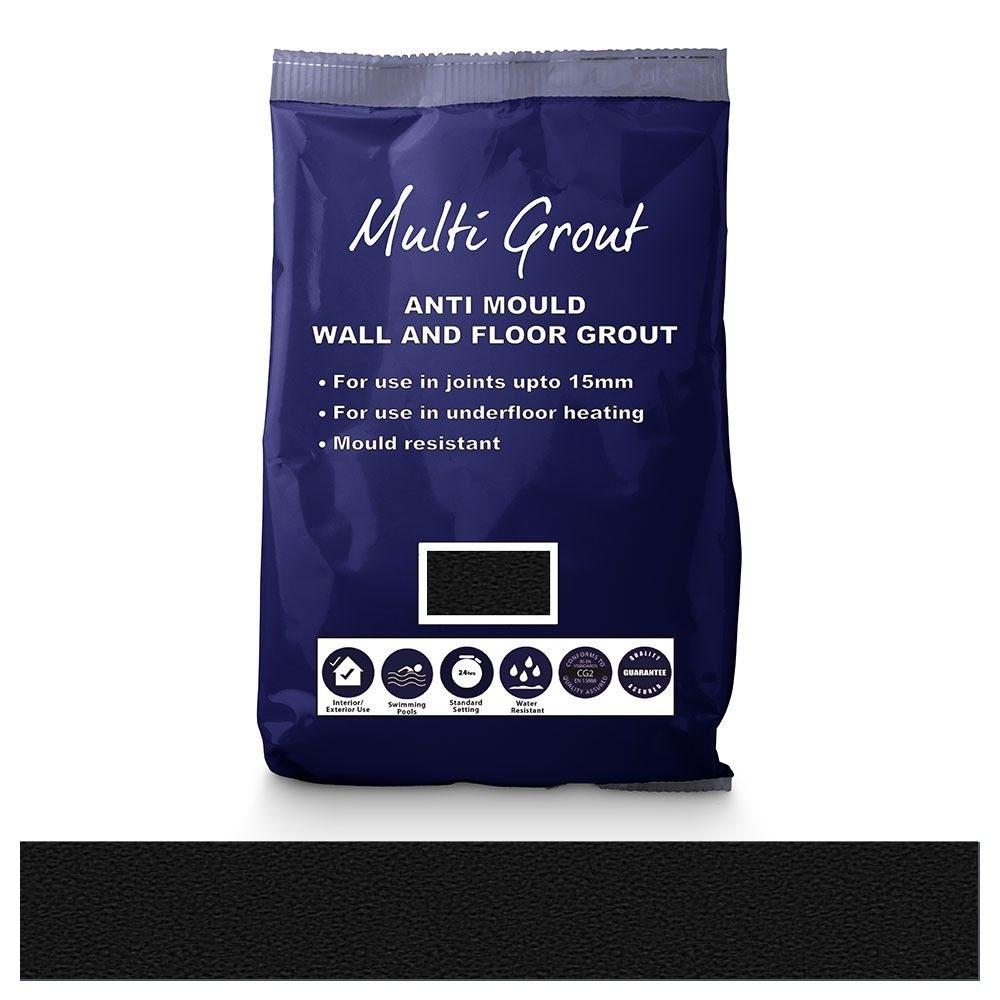Antracite Anti-Mould Tile Grout 10kg