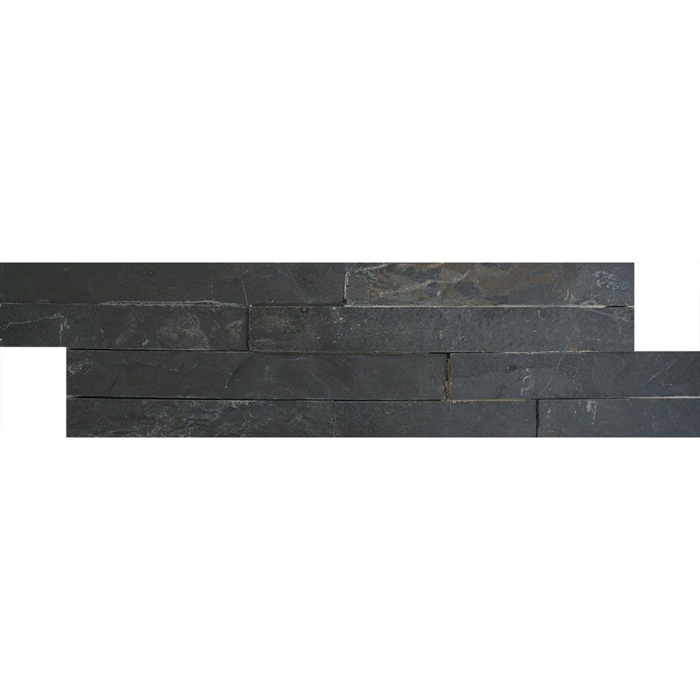 Ledgestone Thin Black Split Face Tiles