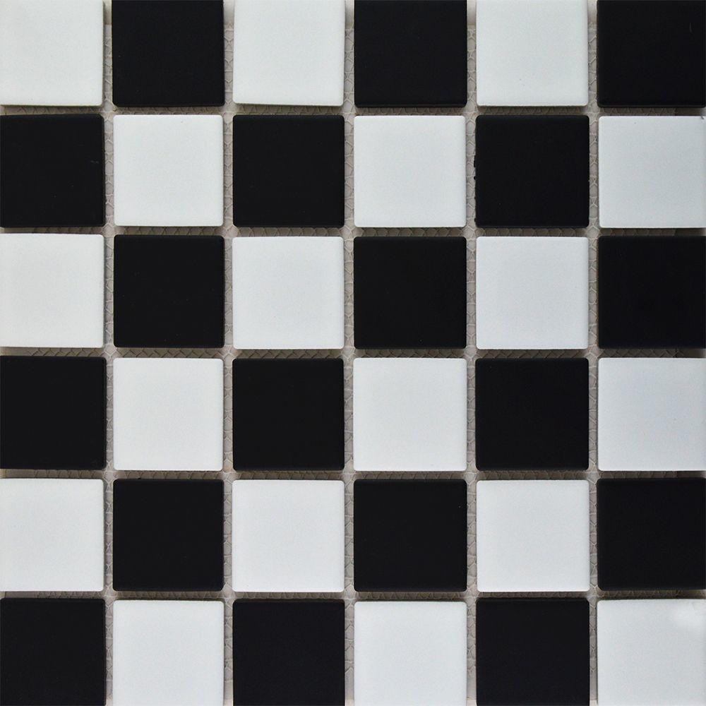 Large Chequer Mosaic Matt Tiles