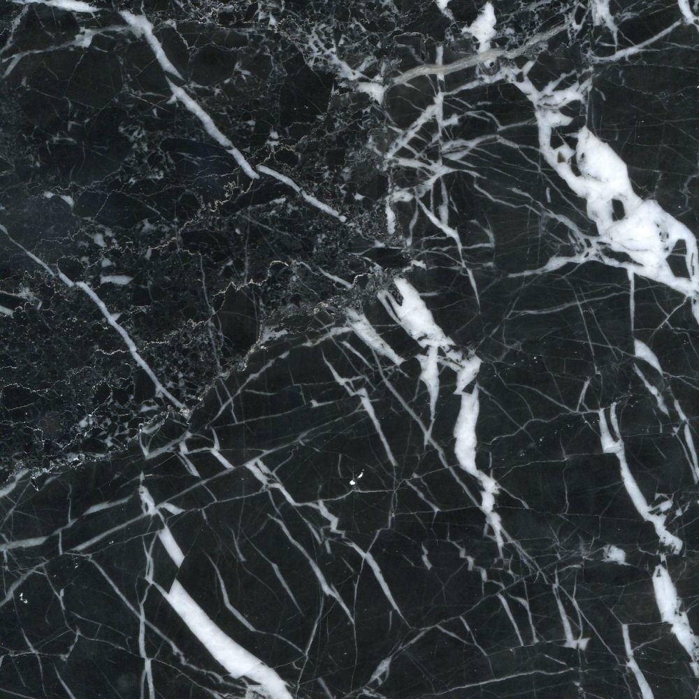 Black Veined Polished Marble Tiles