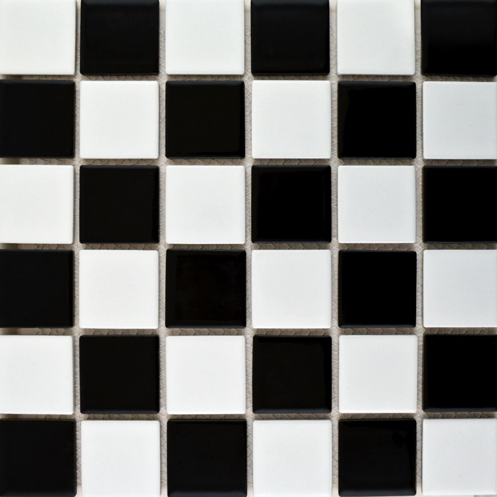 Large Chequer Mosaic Gloss Tiles