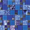 Jamboree Sapphire Infusion Blue Tiles