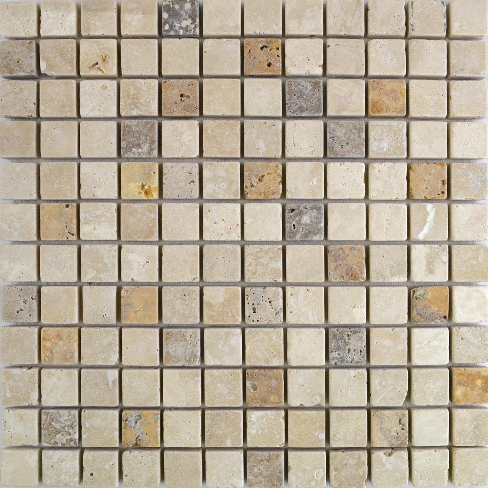 Yellow Light Noce Tiles Natural Travertine Mosaic Tiles