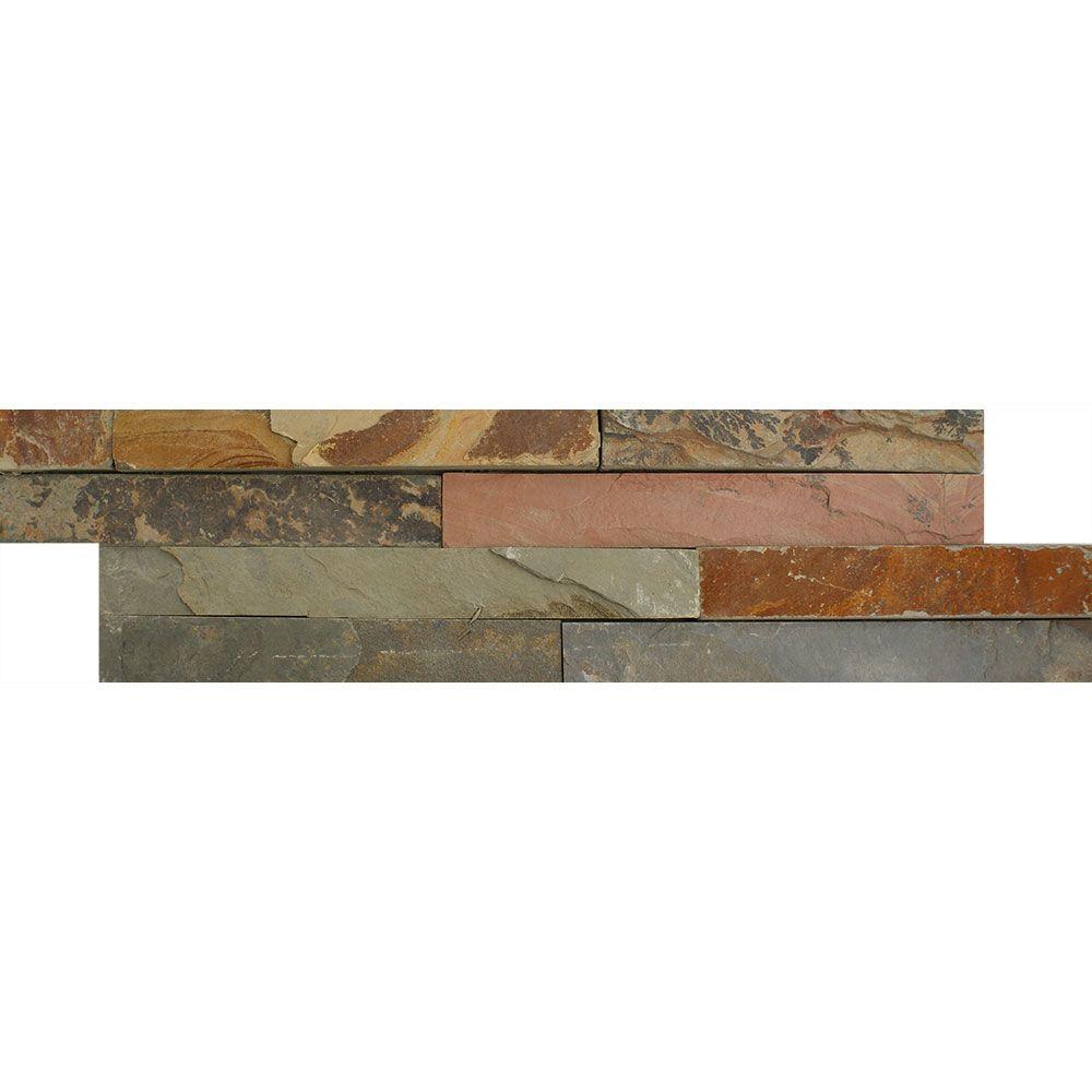 Ledgestone Thin Multi-Colour Split Face Tiles