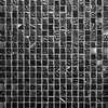 Marble and Glass Black Small Mosaic Tiles