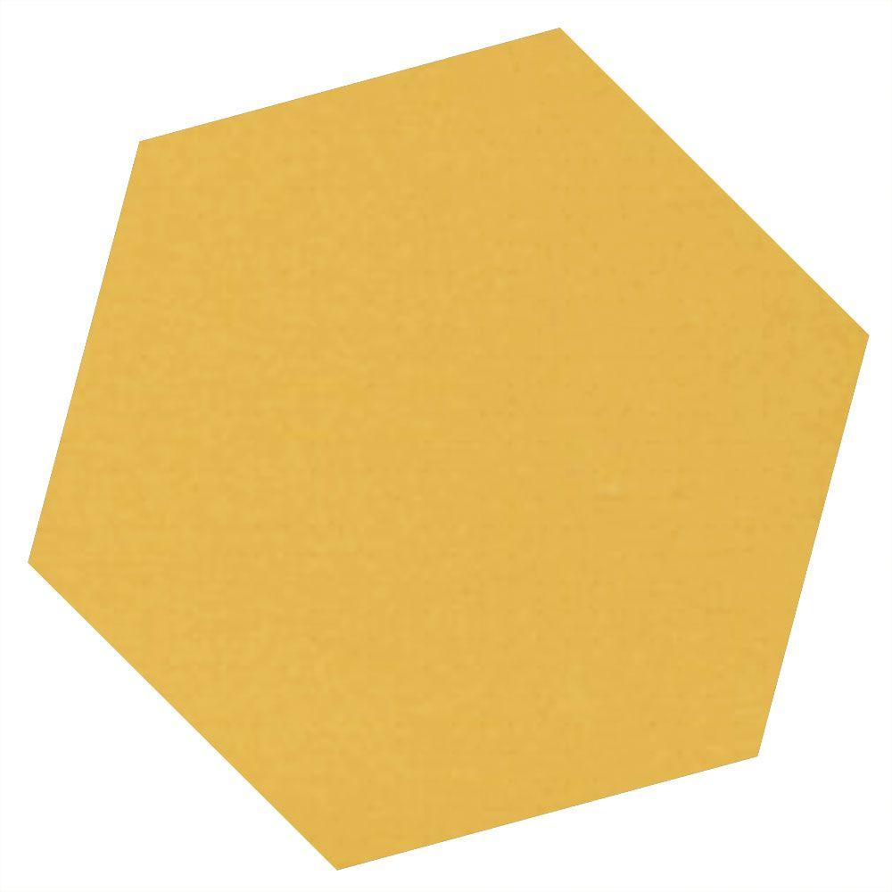 Ochre Yellow Hexagon Tiles