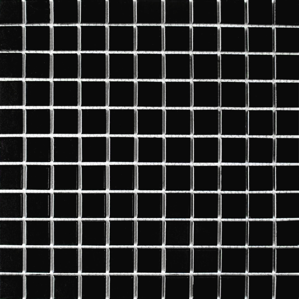 Matt Black Square Small Tiles Bijou Square Mosaic Tiles