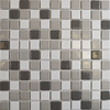 Bijou Square Gloss Grey Mix Mosaic Tiles