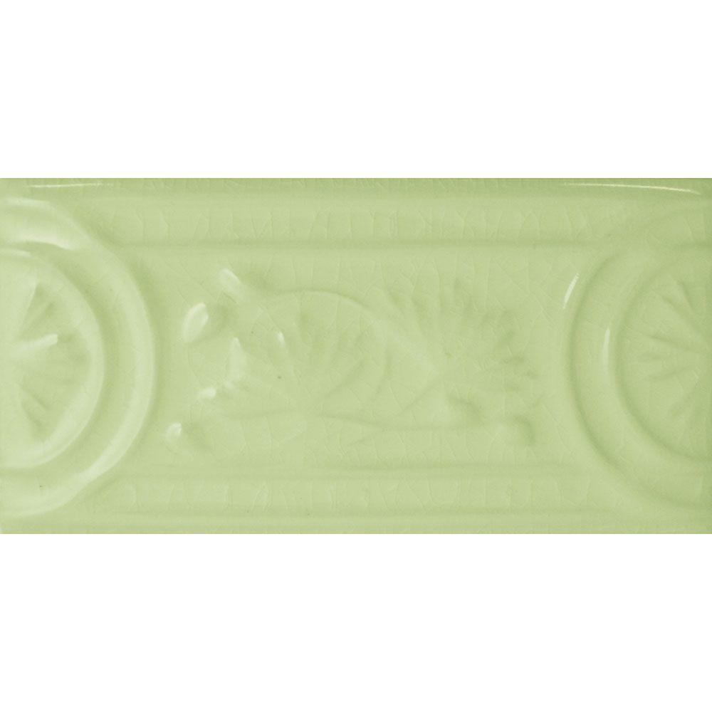 Le Vert De Maisons Crackle green Flor Border Tiles