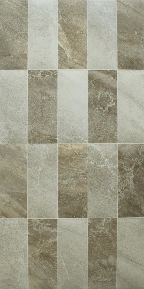 Grey Mix Gloss Mosaic Marble Effect Tiles
